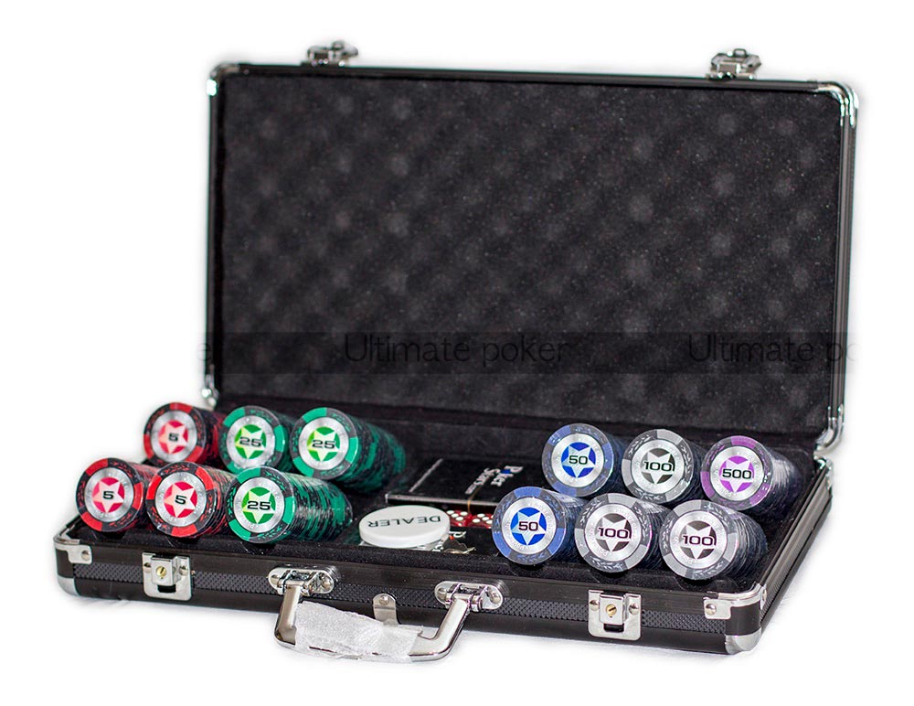 Набор для покера Black Stars 300