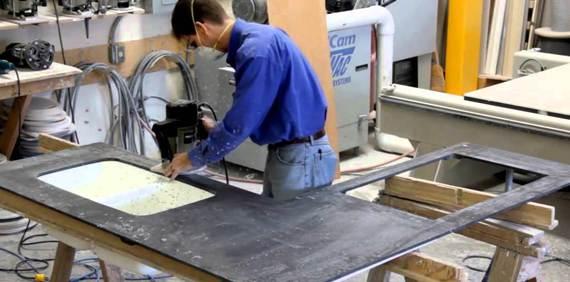 производство столешницы из литьевого мрамора