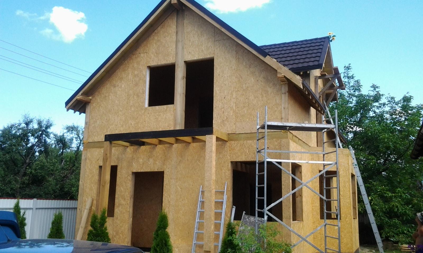 Дом из СИП панелей - строительство