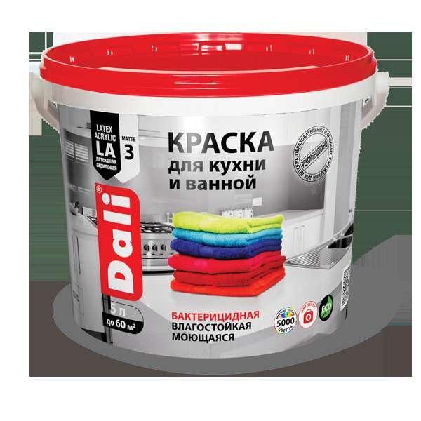 Краска водно-дисперсионная для кухни и ванной от компании Dali