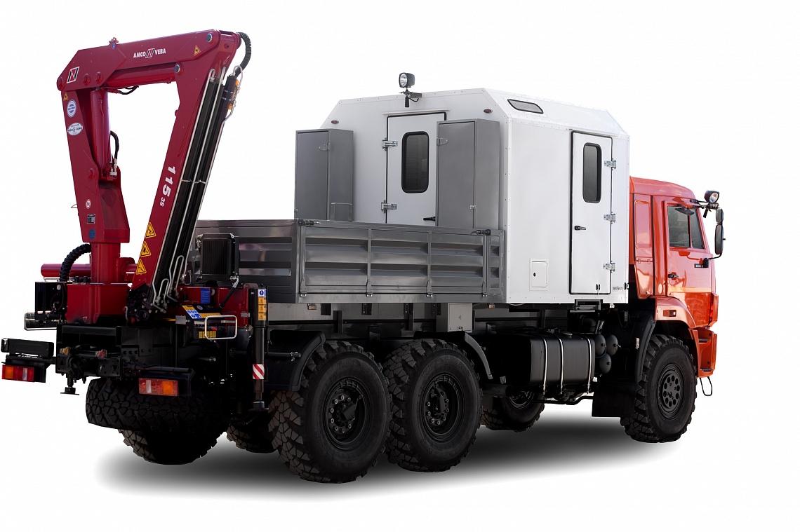 Передвижная техническая помощь с КМУ на шасси КАМАЗ 43118