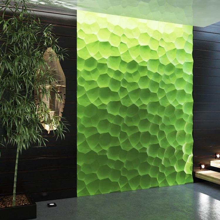Гипсовые 3D-панели в интерьере