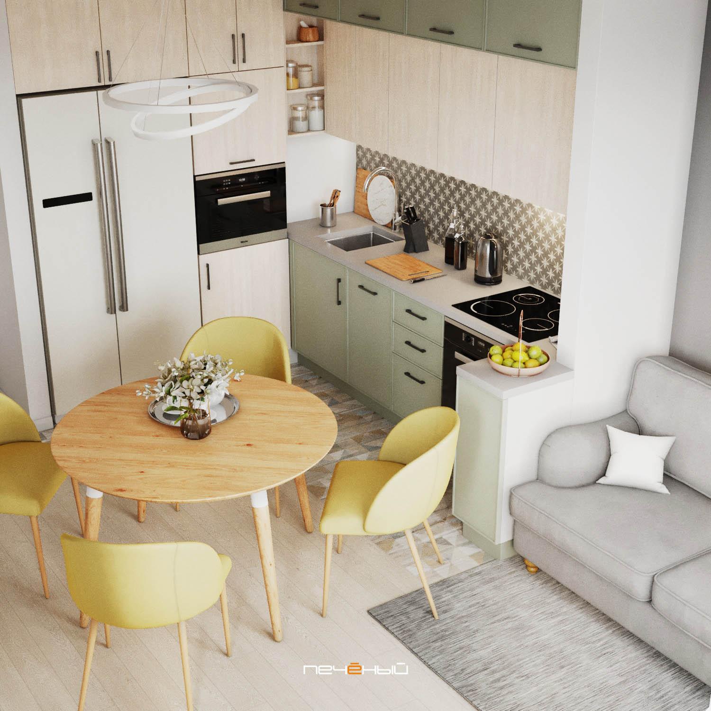 Дизайн-проект квартиры, кухня